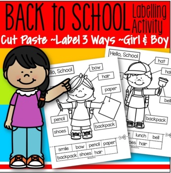 Back to School Cut and Paste FREE