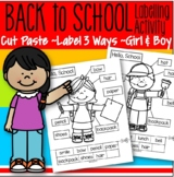 Back to School Labels 3 Ways Cut and Paste Sight Words Literacy Printables