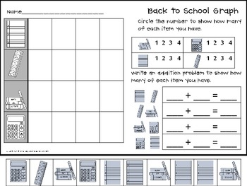 Back to School Cut and Paste Graphs