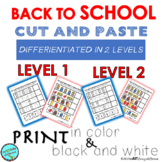 Back to School Cut and Paste Patterns