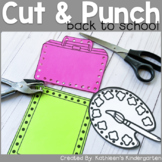 Back to School Cut and Punch Fine Motor Skill Practice