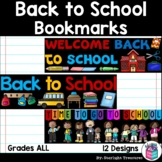 Back to School Cut n' Color Bookmarks: Black and White AND