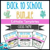 Back to School - Cute Cactus Themed Bundle