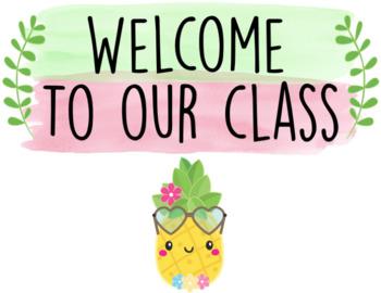 Back to School - Cute Pineapple Themed Bundle