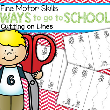 Back to School Cutting on Lines Fine Motor Skill FREE