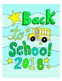 Back to School DESIGN Coloring Page