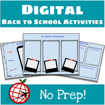 Back to School DIGITAL Activities- Google Slides