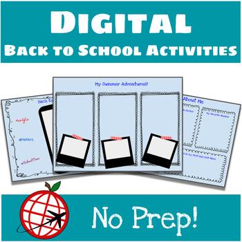 Back to School DIGITAL Activities- Google Slides
