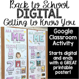 Back to School DIGITAL All About Me Poster for Google Classroom