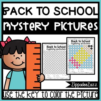 Mystery Pictures for Back to School Dab A Dot