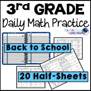 Back to School Daily Math Review 3rd Grade Bell Ringers Warm ups