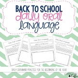 Daily Oral Language Back to School