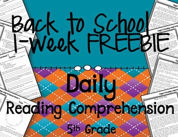 Back to School Daily Reading Comprehension FREEBIE