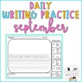 Back to School  Daily Writing Prompts for Kindergarten & 1