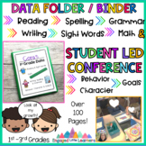 Student Data Folder / Binder and Student Led Conference Low Prep
