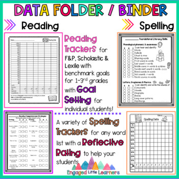 Back to School Student Data Folder / Binder and Student Led Conference Low Prep