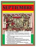 Calendario de Septiembre- Spanish Interactive Notebook- Fecha & Números