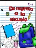 Spanish Speaking Back to School/ De regreso a la escuela