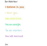 Back to School Dear Students Welcome Letter