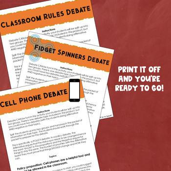 Back to School Debate Activity