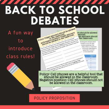 Back to School Debate Activity
