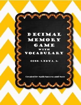 Decimal Review Memory Game