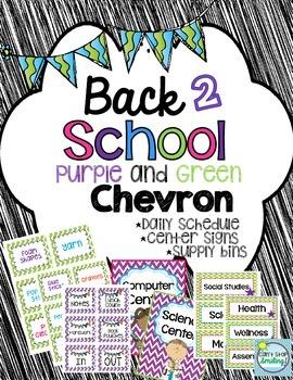 Back to School Decor in Chevron