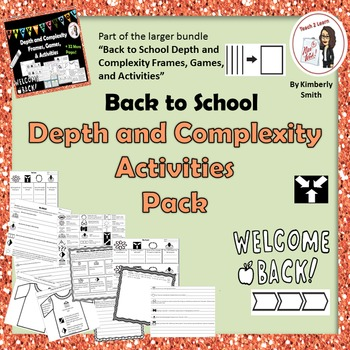 Back to School Depth and Complexity Activities