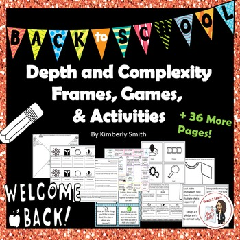 Back to School Depth and Complexity Frames, Games, and Activities Pack