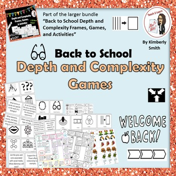 Back to School Depth and Complexity Games