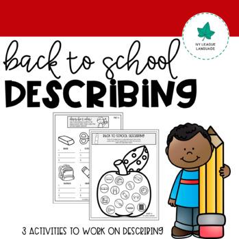 Back to School Describing Activities