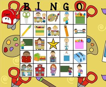 Back to School Describing Bingo
