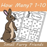 How Many? Counting 1-10 Math Worksheets FREEBIE