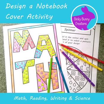 Back To School Design A Notebook Cover Art Activity Math
