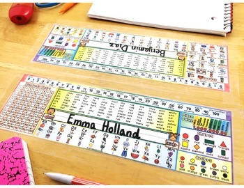 Back to School: Desk Name Plates with ELL Differentiated Option
