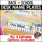 Back to School: Desk Name Plates with Editable and ELL Option