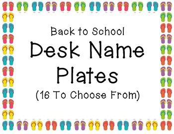 Back to School Desk Name Plates