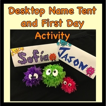 Desk Name Tent and Icebreaker for the Beginning of the Year