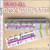 Back to School - Desk Nameplate - Desk Name Tag - EDITABLE