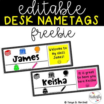 Back to School Desk Nametags FREEBIE