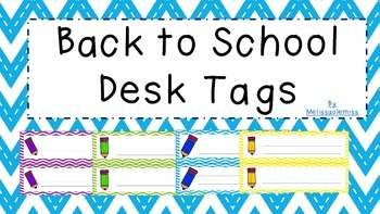 Back to School Desk Tags