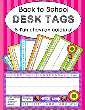 Back to School: Desk Tags