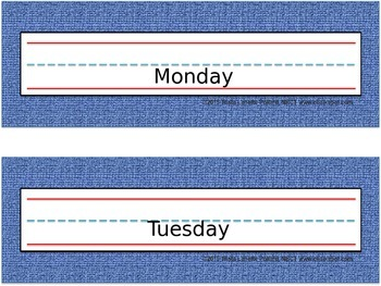 Back to School Desk Tags: Denim (Editable)