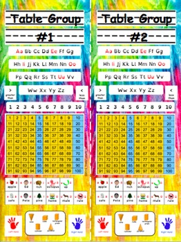 Back to School Desk Tags: Vertical (Editable PinkYellow Tie-Dye Primary)