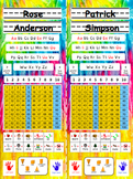 Back to School Desk Tags: Vertical (Editable PinkYellow Ti