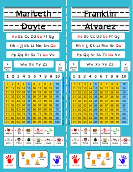 Back to School Desk Tags: Vertical (Editable Turquoise Primary)