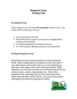 Back to School - Diagnostic Essay
