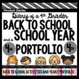 Back to School! Diary of a 4th Grader: My School Year Portfolio