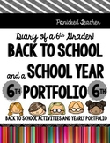 Back to School! Diary of a 6th Grader: My School Year Portfolio