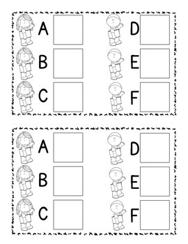Back to School Letter Sound Matching Printable Book - Common Core Aligned